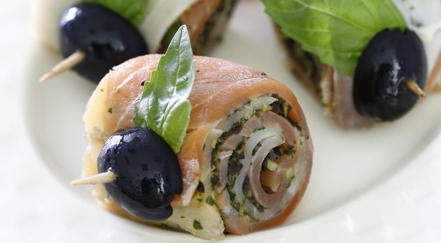 Рецепт Закуска из двух видов рыбы
