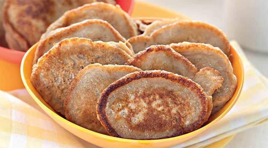 Рецепт Овсяные оладьи с бананом