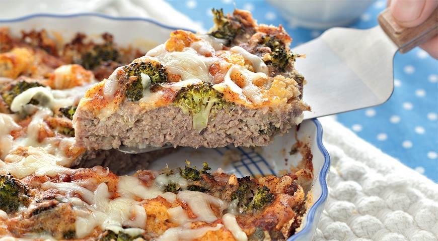 Рецепт Мясная запеканка с брокколи и цветной капустой