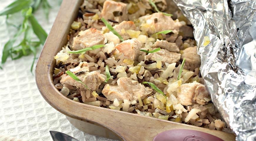 Рецепт Филе индейки с диким рисом и тархуном