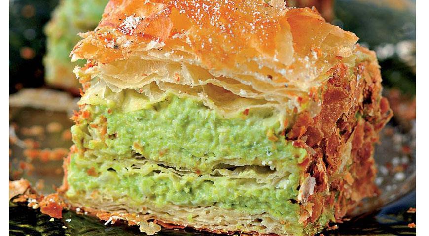 Рецепт Мильфей с зеленым горошком