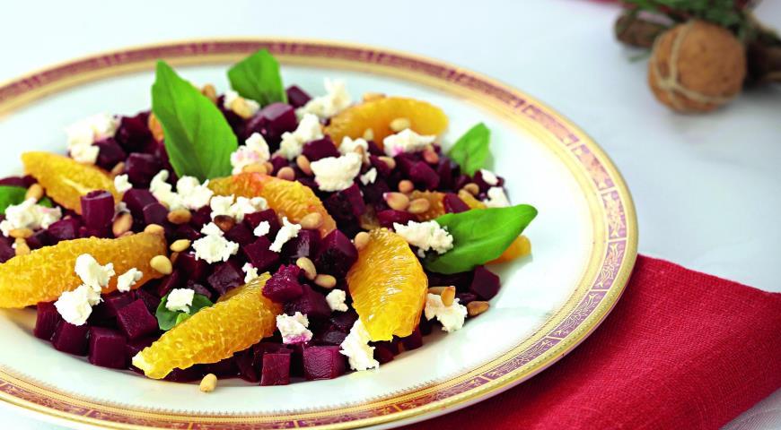 Рецепт Средиземноморский салат из свеклы