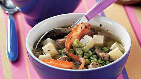 рецепт горохового супа с копченой рулькой