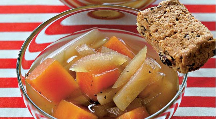 Рецепт Тыквенно-яблочный компот с гуавой