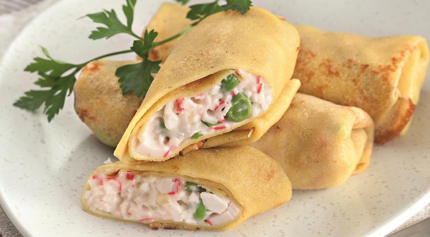 Рецепт Блинчики карри с крабовым мясом