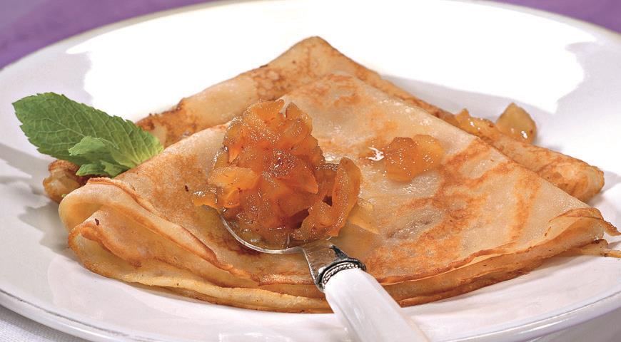 Рецепт Гречневые блины с яблоками