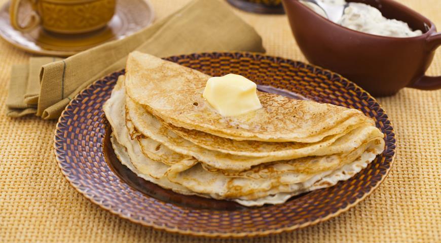 Рецепт Намазка для блинов из сметаны с зеленым луком