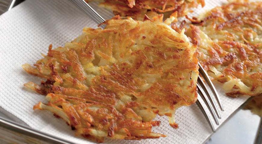 Драники картофельные с луком, пошаговый рецепт с фото