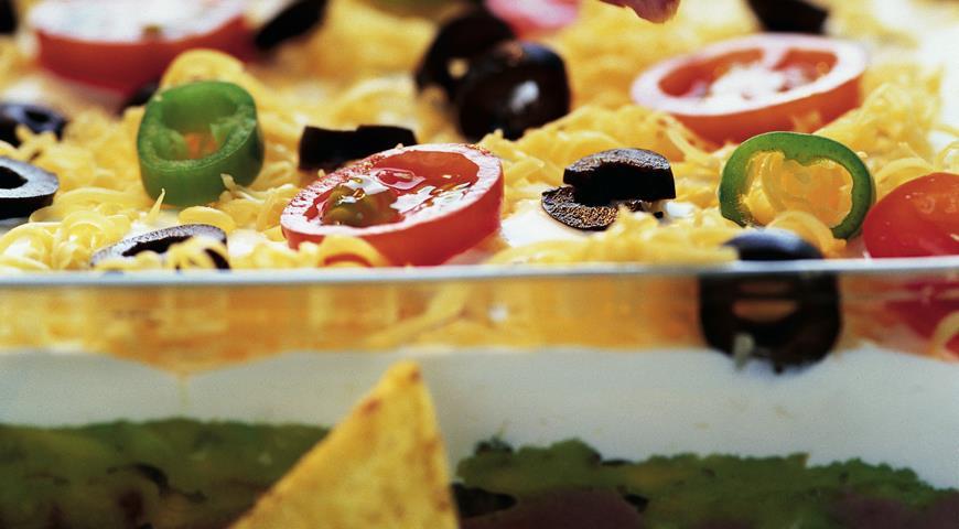 Рецепт Трехслойная мексиканская закуска