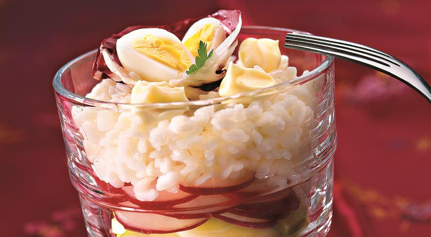 Рецепт Рисовый салат с редисом