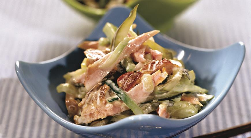 салат из копченой куриной грудки рецепты