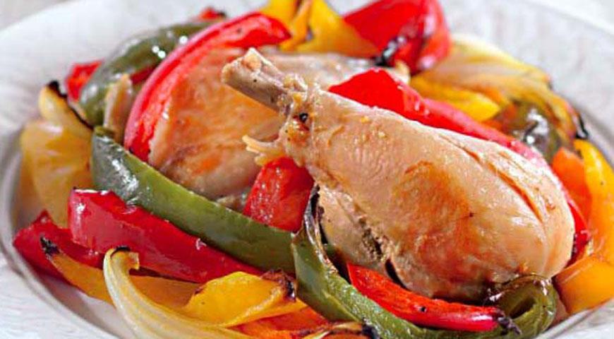 Рецепт Цыпленок по-охотничьи с майораном