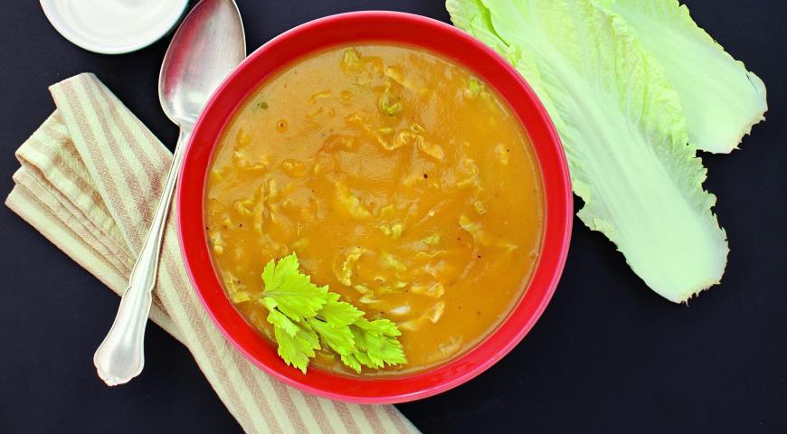 Рецепт Картофельный суп с пекинской капустой