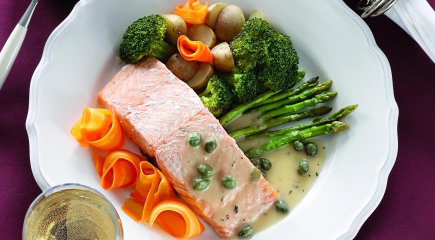 Рецепт Семга с овощами под соусом