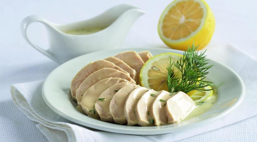 Рецепт Куриное филе с лимонным соусом