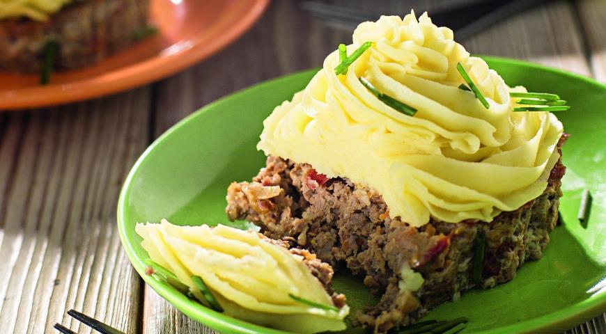 Рецепт Мясные капкейки с картофельным пюре