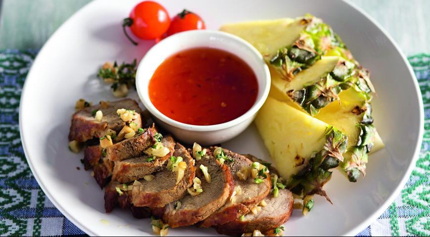 Рецепт Свиная вырезка в кокосовом маринаде