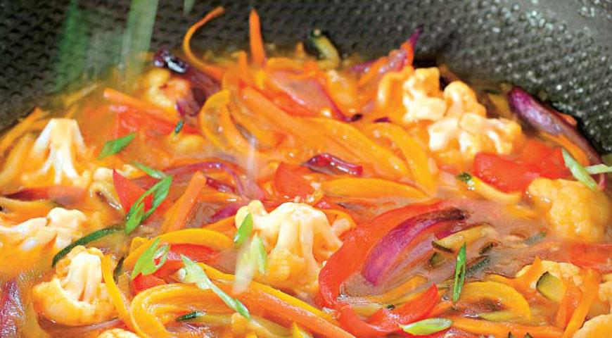 Рецепт Овощи в кисло-сладком имбирном соусе