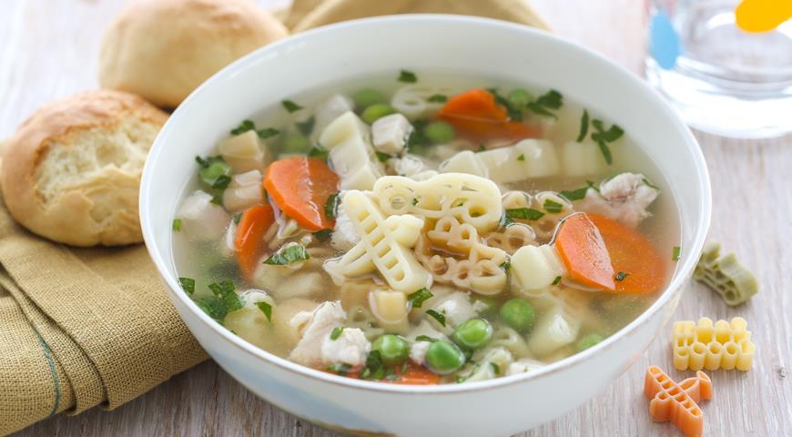 детский рецепт супа с макаронами от года