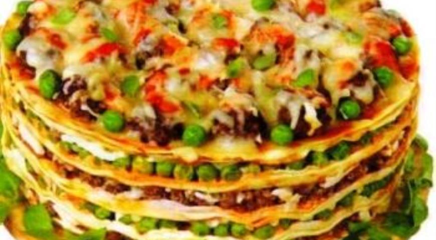 Рецепт Блинно-овощной тортик