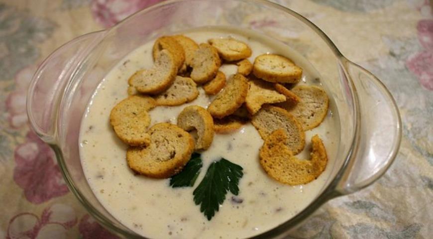 Рецепт Сливочный крем-суп из шампиньонов