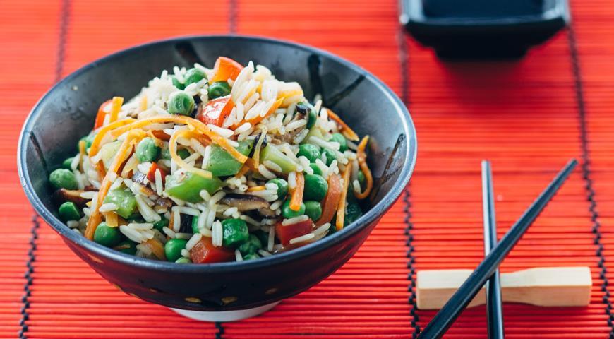 Рецепт Азиатский рис с грибами