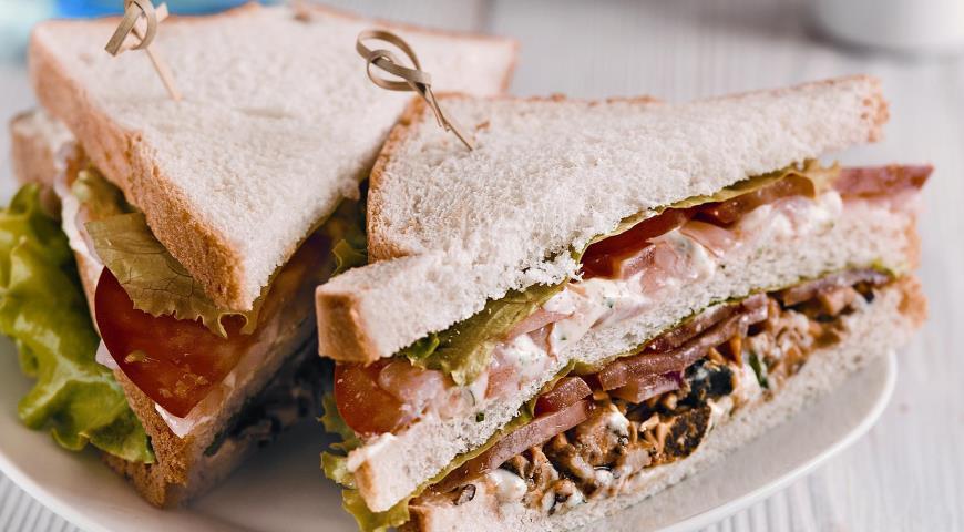 Рецепт Клубный сэндвич с морепродуктами