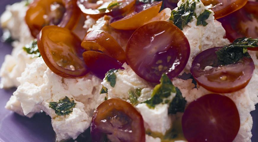 Рецепт Несладкий творог с помидорами