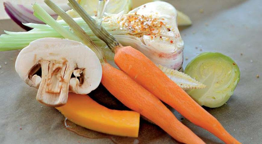 Рецепт Запеченные овощи в пергаменте