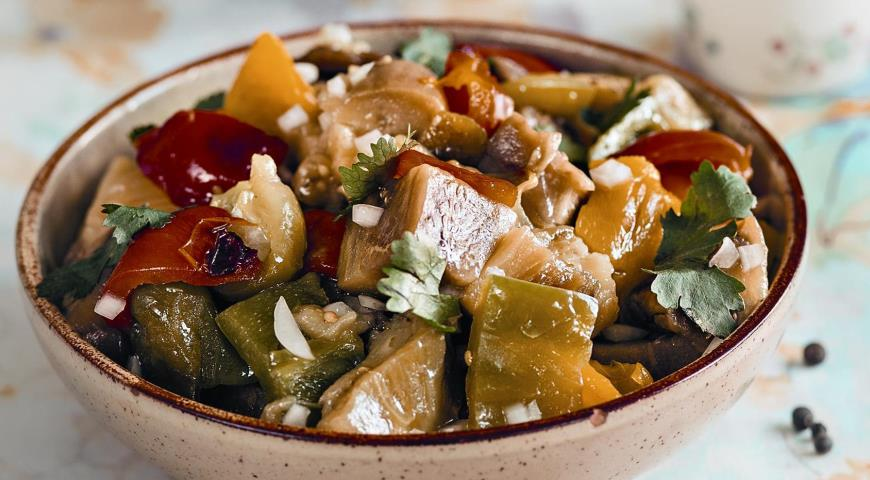 Армянский салат из печеных овощей, пошаговый рецепт с фото