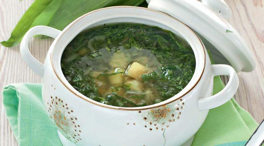 Рецепт Овощной суп с черемшой