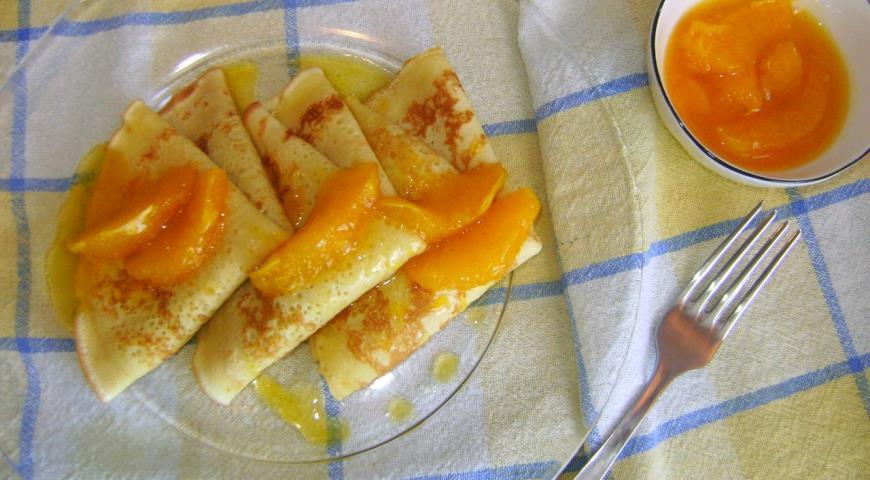 Рецепт Апельсиновые блинчики с апельсиновым соусом