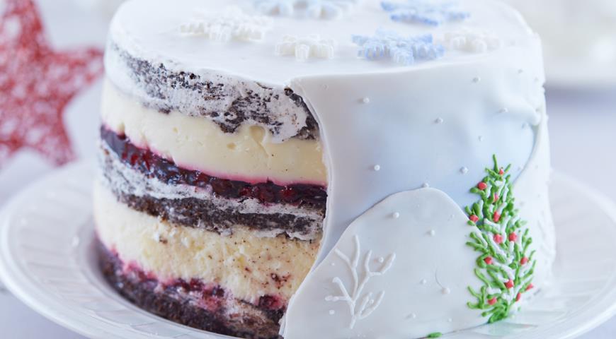 Рецепт Шоколадный торт «Клюква в снегу»