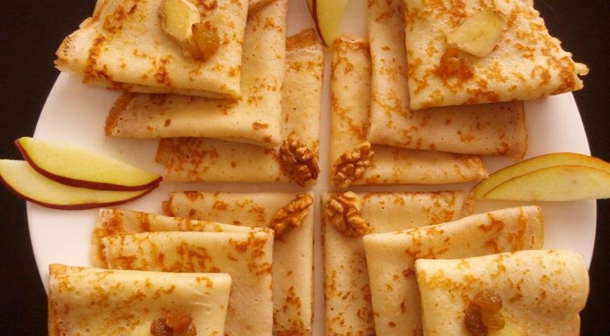 Рецепт Блины на кефире с имбирем без сахара