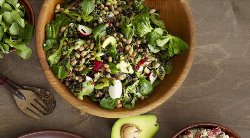 Рецепт Салат с диким рисом и авокадо