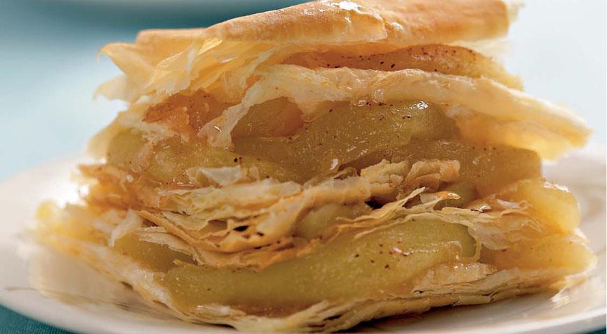 Рецепт Яблочный наполеон с корицей