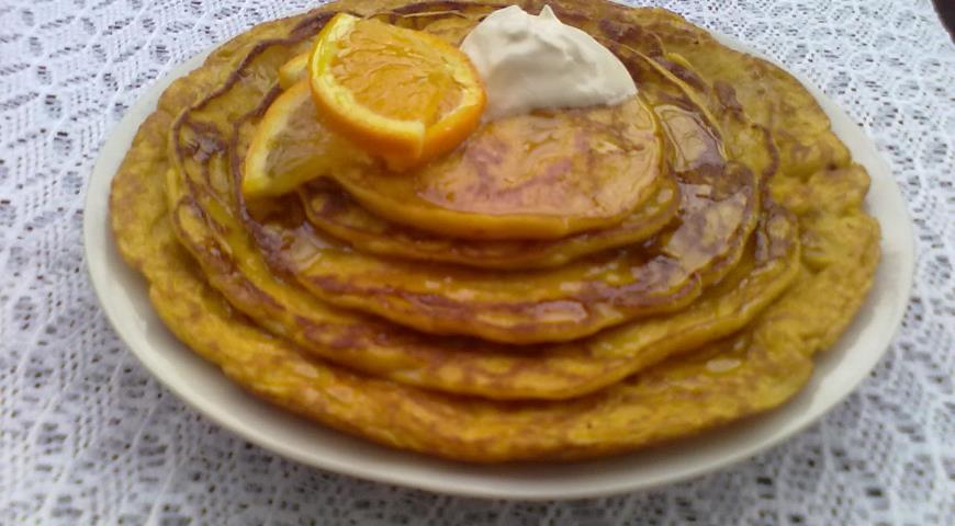 Рецепт Пряные блины из тыквы с апельсиновым сиропом