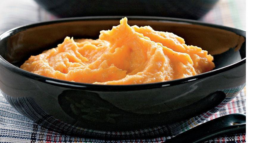 Рецепт Воздушный сладкий картофель с запеченными яблоками и кардамоном