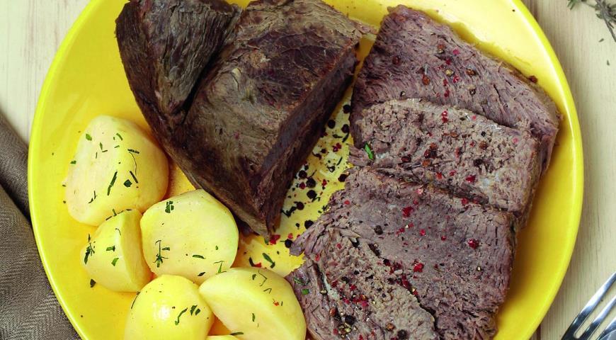 Рецепт Говядина, тушенная с тимьяном