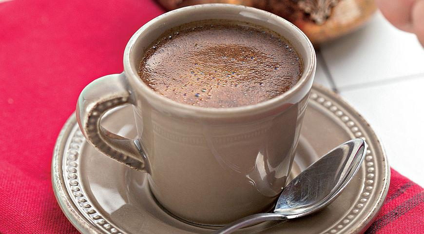 Рецепт Крепкий кофе с кардамоном
