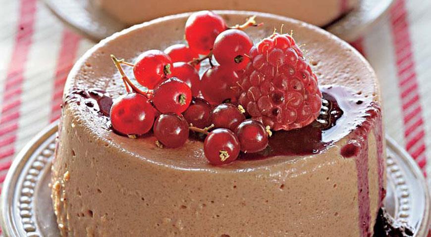 Рецепт Шоколадный пудинг из манной крупы