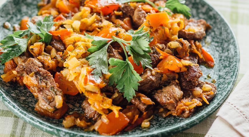 Рецепт Супербыстрая говядина с овощной заправкой