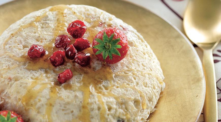 Рецепт Рисовый пудинг с сушеной вишней и корицей