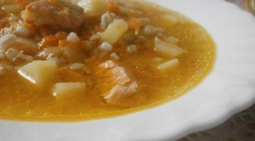 Рецепт Рыбный суп с перловой крупой