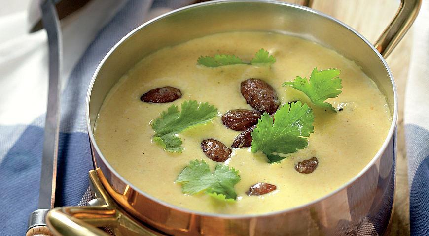 Рецепт Холодный морковный суп с миндалем и мускатным цветом