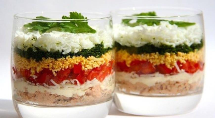 Рецепт Полосатый салат