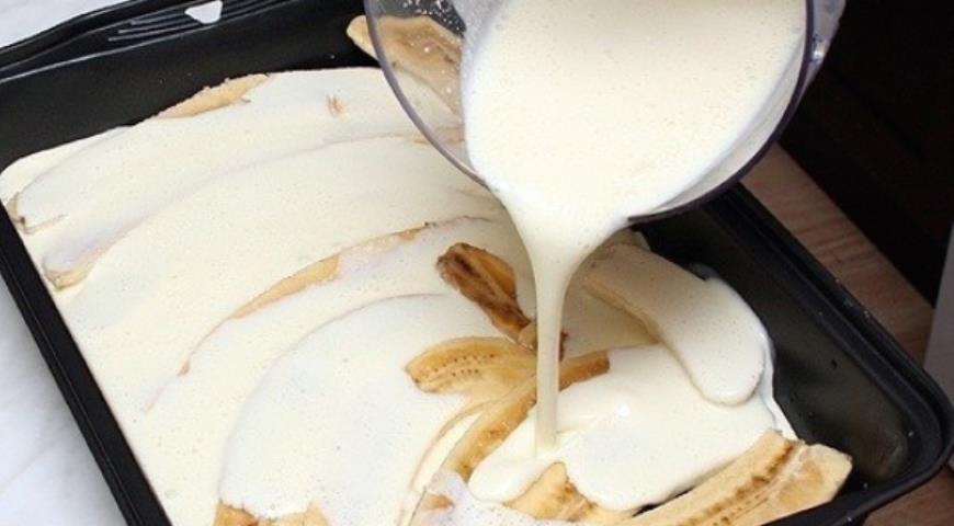 Рецепт Бананы с творогом и йогуртом