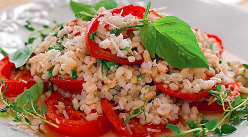 Рецепт Перлотто с запеченными помидорами