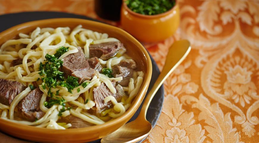 Рецепт Тувинская домашняя баранья лапша