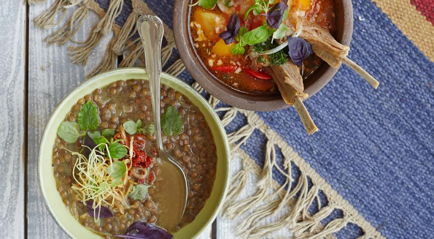 Рецепт Суп с чечевицей